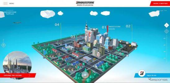 ブリヂストン、テクノロジーやイノベーションで描く未来のバーチャル都市を展示…CES 2021
