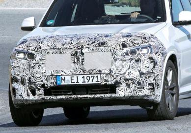 BMW X3 改良新型、フロントを大胆にイメチェン!? オペレーティングシステム7.0も
