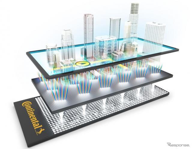 コンチネンタルの次世代3Dナビゲーションシステム《photo by Continental》