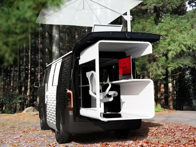 NV350キャラバン オフィスポッド コンセプト《写真提供 日産自動車》