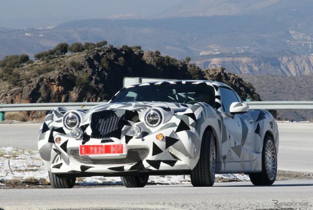 マツダ ロードスターRFの車体をベースとするHurtan Coupe プロトタイプ(スクープ写真)《APOLLO NEWS SERVICE》