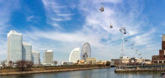 横浜都心臨海部にロープウェイ 「YOKOHAMA AIR CABIN」…日本初の常設都市型 4月22日運行開始