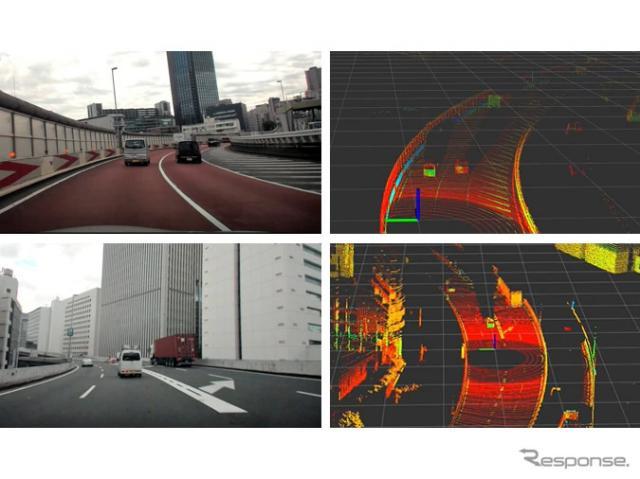 ZMP、首都高全線300km超の計測データ発売へ…高精細3D-LiDARやカメラ画像