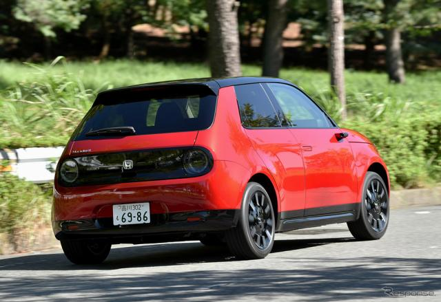 電気自動車の例:ホンダe《写真撮影 中野英幸》