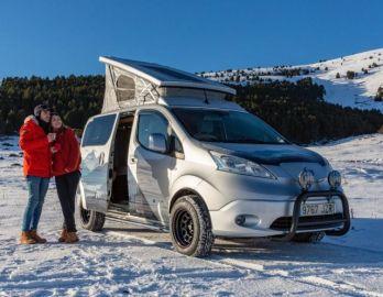 EVで冬のキャンプ、e-NV200 ベースで 欧州日産が提案