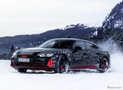 アウディのEVスポーツ『e-tron GT』、プロトタイプの写真 2月9日にモデル発表