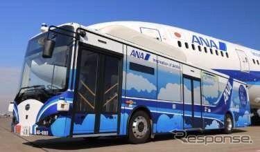 自動運転の大型電気バス、羽田空港で試験運用へ ANA