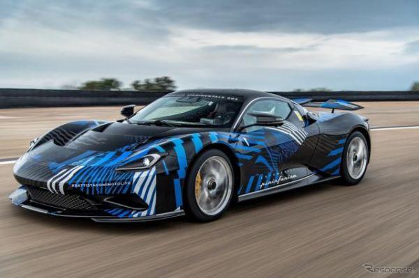 ピニンファリーナの1900馬力EV、『バッティスタ』…元F1ドライバーが初テスト