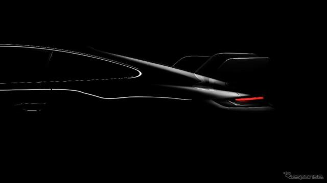 ポルシェの新型車のティザーイメージ《photo by Porsche》