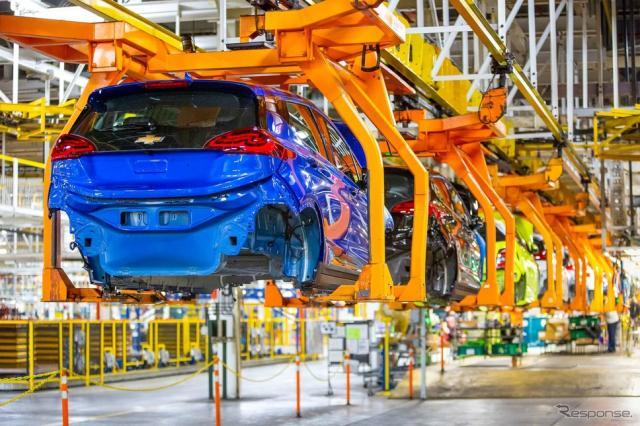 GMの米国ミシガン州工場で生産されているシボレー・ボルトEV《photo by GM》