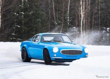 ボルボの名車『P1800』、420馬力ターボ搭載で甦る…雪上ドリフト[動画]