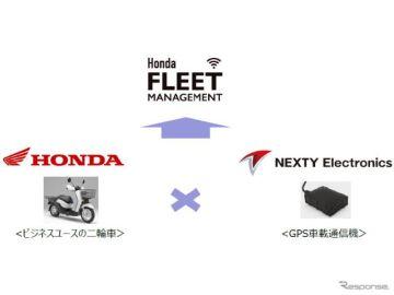 豊田通商グループ、ホンダの法人向け二輪車用コネクテッドサービスに車載通信機を提供