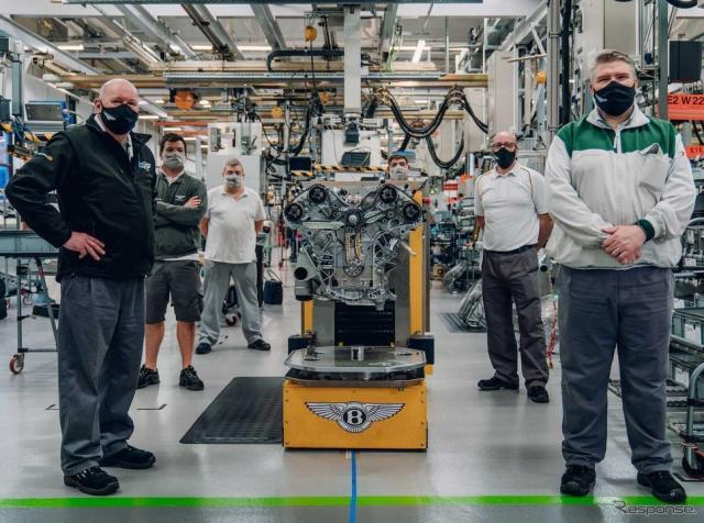 ベントレー・マリナー・バカラル 向けの最初のW12エンジン《photo by Bentley》