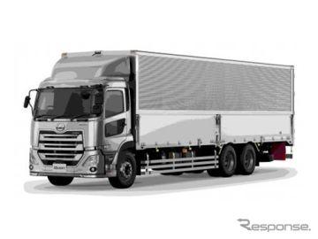UDトラックス クオン、横浜ゴムのタイヤ空気圧モニタリングシステムを採用