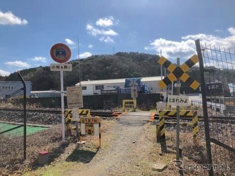 踏切ゲート設置前《写真提供 JR西日本》
