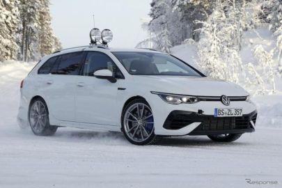 最終デザインが完全露出!? VW ゴルフRヴァリアント 新型、0-100km/h加速は4.6秒