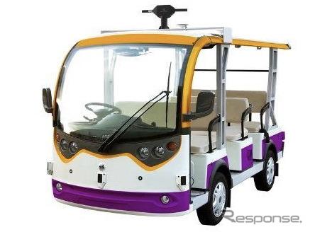 8人乗り自動運転低速EVカート《画像提供 マクニカ》