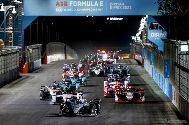フォーミュラEの新シーズンがサウジ連戦で開幕(写真は第1戦)。《Photo by ABB FIA Formula E》