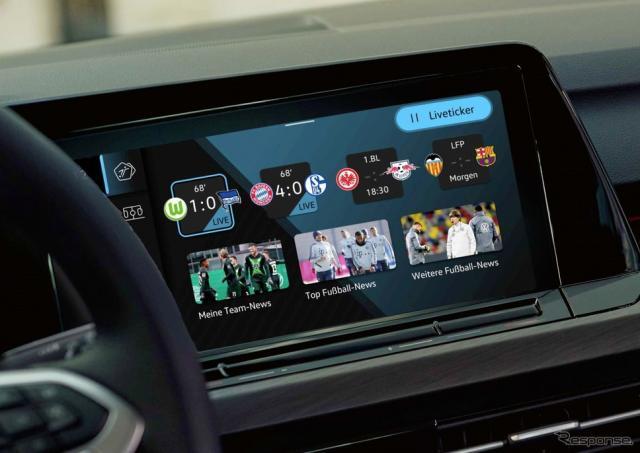 VW ゴルフ 新型向けの車載アプリ「WeScore」《photo by VW》