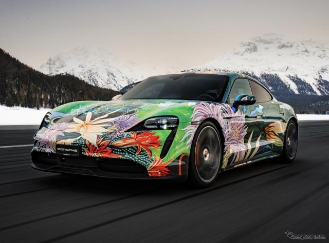 ポルシェ・タイカン のアートカー《photo by Porsche》