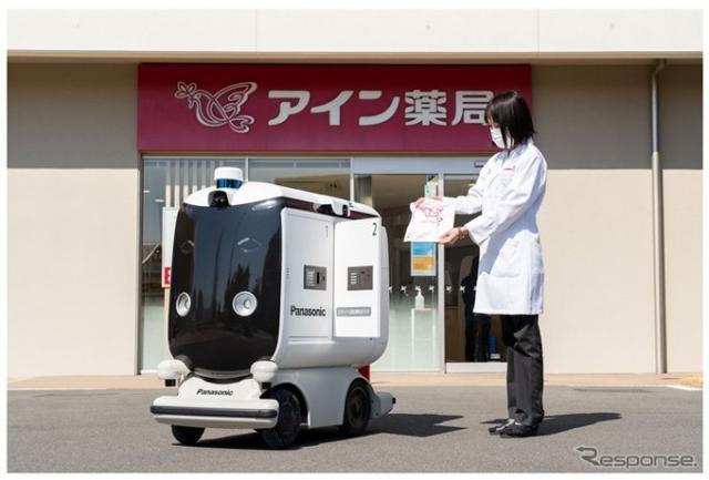 低速ロボットが薬品を配達(イメージ)《写真提供 パナソニック》