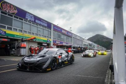 【SUPER GT】岡山公式テストが開幕、1日目はレッドブル無限NSX-GTが最速タイムを記録