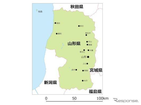 山形県内の路線バス、Suicaの利用が可能に…データを活用して路線見直し