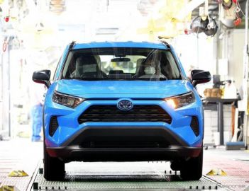 米トヨタ・ケンタッキー工場、生産1300万台… RAV4ハイブリッド がラインオフ