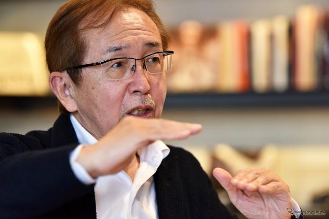 中村史郎氏はいすゞのデザイン部長だった1999年、日産デザインのトップに電撃移籍。2017年3月、日産の専務執行役員を退任した。《写真撮影 中野英幸》