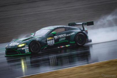 【スーパー耐久 開幕戦】決勝レースは悪天候で途中終了、777号車D'station ヴァンテージが優勝
