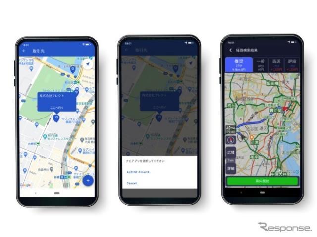 キャリオモバイルアプリとスマートX連携のイメージ《画像提供 フレクト》