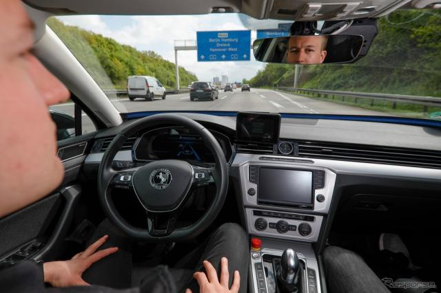 コンチネンタルの自動運転技術開発車両《photo by Continental》