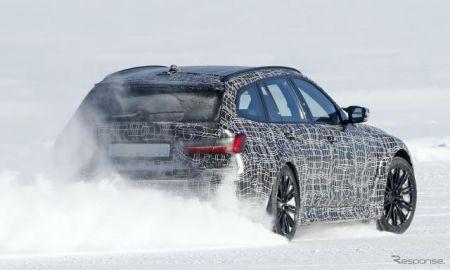 BMW M3ツーリング、最新プロトタイプが豪雪を爆走…全車4WDか?