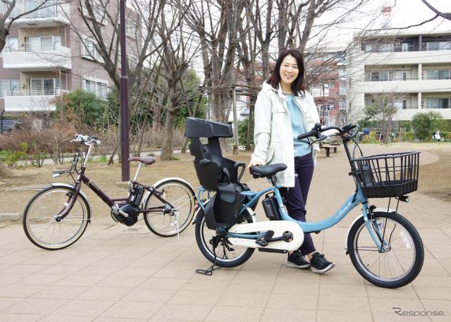 ヤマハ 発動機の電動アシスト自転車『PAS Babby un SP』(右)と『PAS CITY-V』(左)に試乗《写真撮影 宮崎壮人》