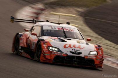 【SUPER GT】富士公式テスト1日目…GRスープラ勢に速さ、最速は36号車au TOM'Sスープラ