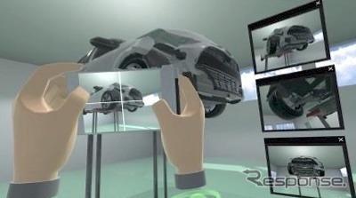 VRを活用した研修イメージ:損傷箇所の撮影《画像提供 三井住友海上火災保険》