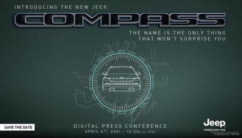 ジープの小型SUV、コンパス に改良新型 4月6日発表