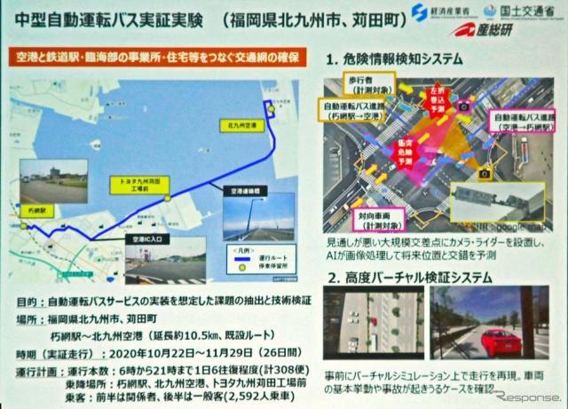 北九州空港と結んで行われた西鉄の中型自動運転バス実証実験の概要《写真撮影 会田肇》