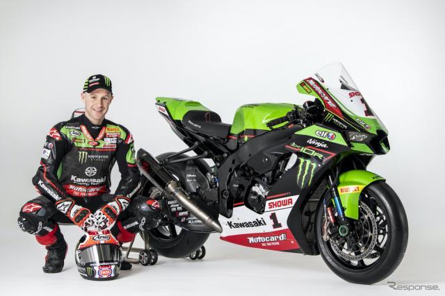ジョナサン・レイとNinja ZX-10RRスーパーバイク世界選手権2021年使用《写真提供 川崎重工業》