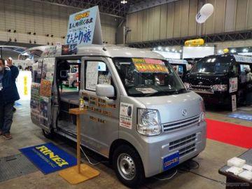 """装備を割り切って実現した贅沢な""""ひとり旅""""、リンエイの軽キャンパー…ジャパンキャンピングカーショー2021"""