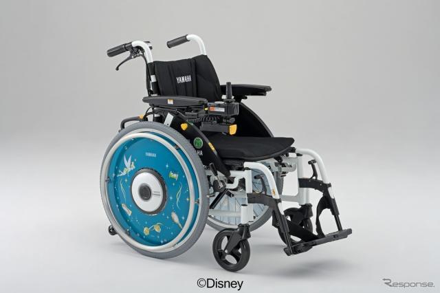車いす用スポークカバー(ティンカーベル)《写真提供 ヤマハ発動機》(c)Disney