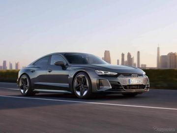 【アウディ e-tron GT】新型EVスポーツを日本初公開…価格は1399万円より、今秋発売