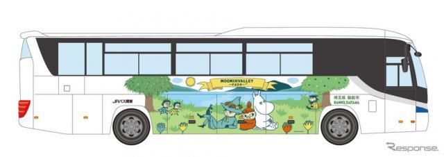 ムーミンバレーパークのラッピングバス(イメージ)《画像提供 ムーミン物語》