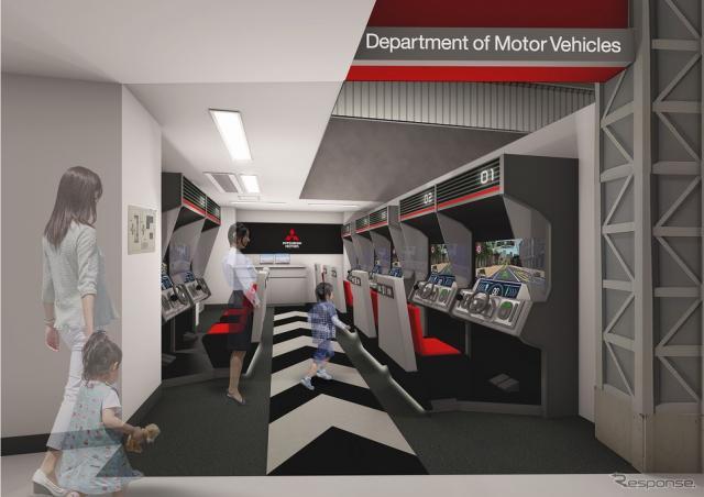 ドライビングシミュレーター《写真提供 三菱自動車》