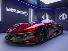 MGのEVスポーツ『サイバースター』、写真公開…実車は上海モーターショー2021で発表予定