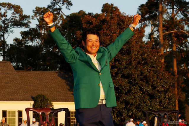 松山選手、マスターズV《Photo by Kevin C. Cox/Getty Images Sport/ゲッティイメージズ》