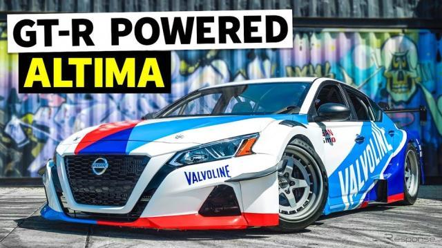 日産 アルティマ に GT-R のパワートレインを移植した新ドリフトマシン、「アルティマニアック」《photo by HOONIGAN》