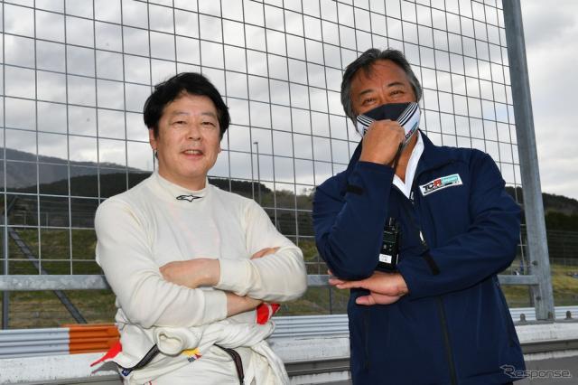 中谷明彦選手(左)と TCR Japan 小林泰司氏(右)《写真提供 TCR Japan》