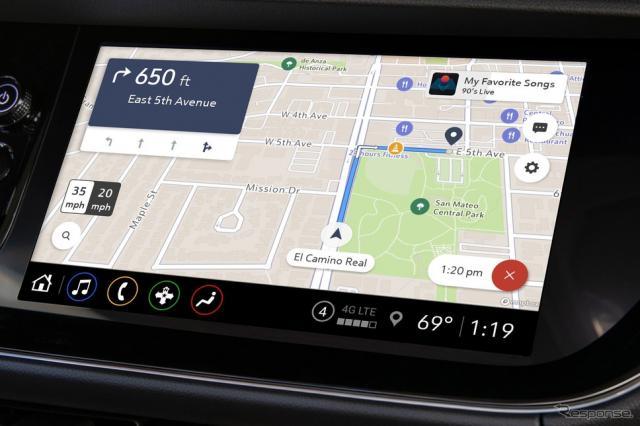 GMのアプリベースのナビゲーションシステム、「Maps +」《photo by GM》