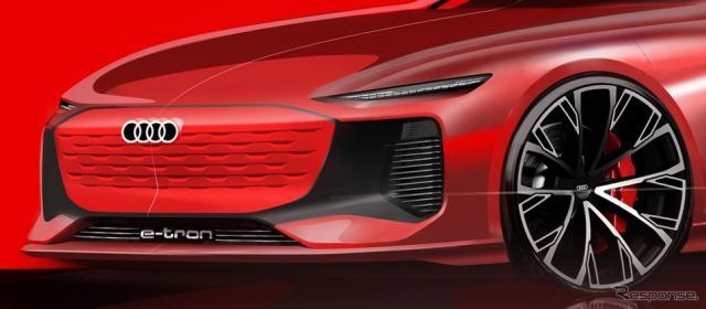 アウディの新型電動モデルのイメージスケッチ《photo by Audi》